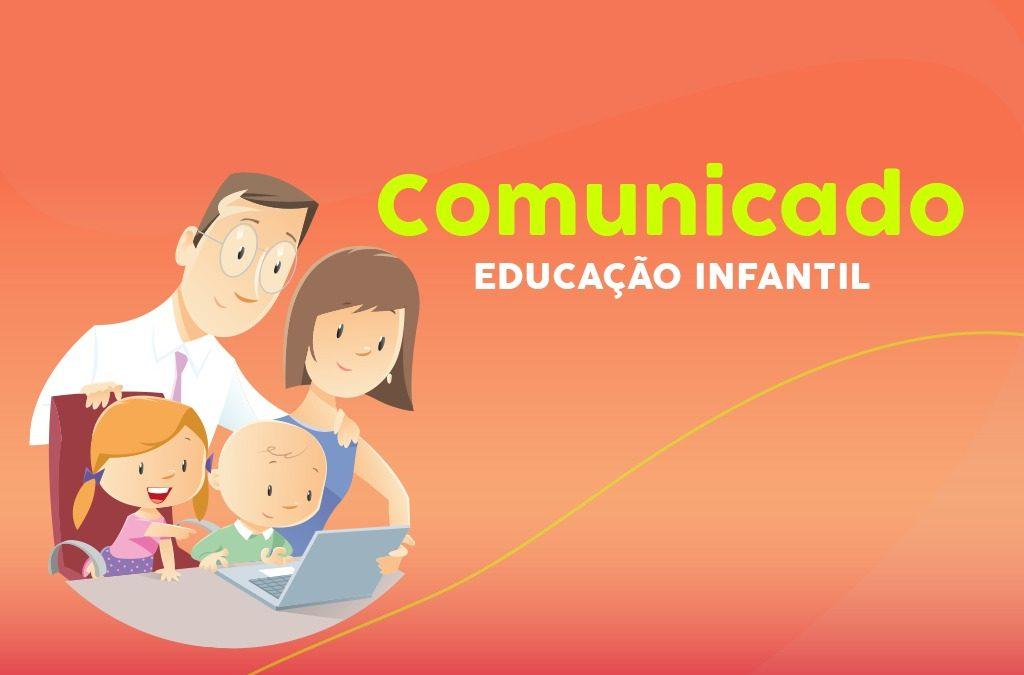 Aos pais e responsáveis da Educação Infantil